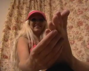 Veronica creaming her little toes