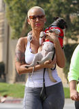 Amber Rose - Out Walking Her Dog Candids.....Ass Shot....