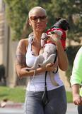 Amber Rose - Out Walking Her Dog Candids.....Ass Shot....