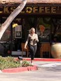 *ADDS* Natasha Henstridge-In Spandex Leaving Starbucks in Los Angeles 10/06/09- 14 HQ+ 15 MQ