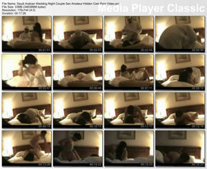 Hidden cam on wedding night porn movies never