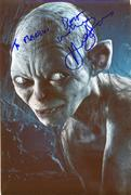 Andy Serkis In Person Autograph 12.02.10 (1X)
