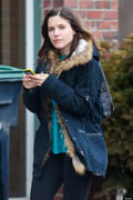 "Sophia Bush - on NBC's ""Hatfields and McCoys"" set in Boston, MA 3/18/13 x4 #TAGGED#"