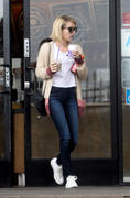 Emma Roberts leaving Coffee Bean & Tea Leaf in Los Angeles 02/09/14